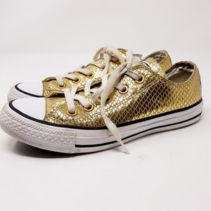 Converse All Star Leather Gold Metalic